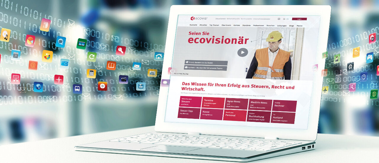 Serviceportal Ecovis Online: Mit einem Klick zu allen Anwendungen